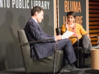 Steve Paikin and Irshad Manji at the 2014 Bluma Lecture