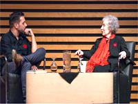Margaret Atwood at the Appel Salon.