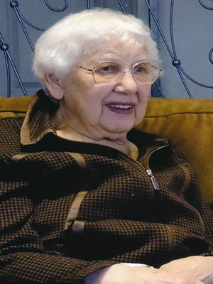 The late Mary May at her 95th birthday celebration.