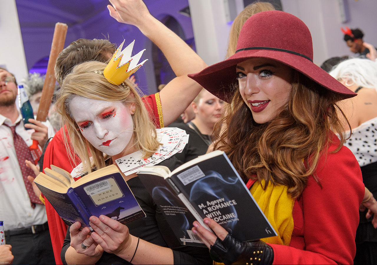 Getting a bit of reading in at Hush Hush 2015.
